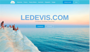 Page d'accueil Ledevis.com : Comparateur Assurance, Finance, Travaux Maison, Imprimerie, Web & Marketing, Voyage